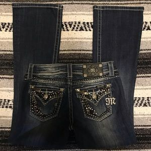 Miss Me Jeans Size 24 Easy Boot JE5456E3N